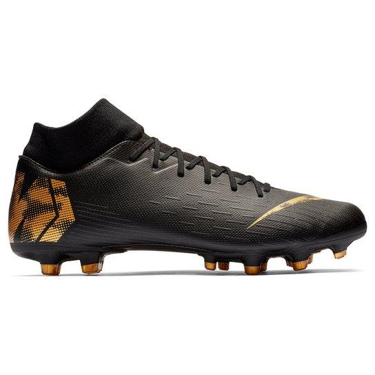 8b8d5a217b6 Chuteira Campo Nike Mercurial Superfly 6 Academy - Preto e Dourado ...