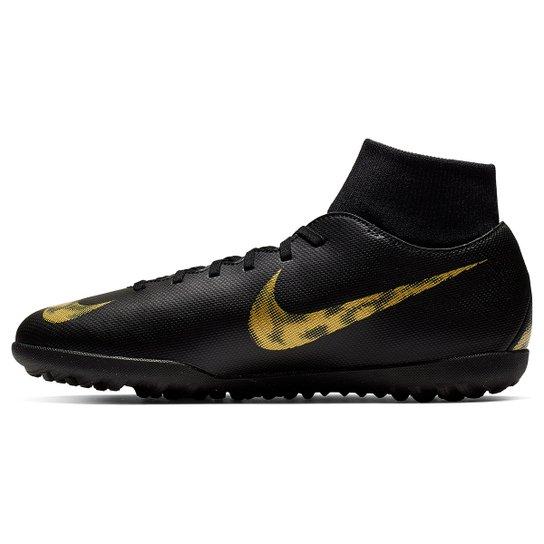 ec6d50913c4 Chuteira Society Nike Mercurial Superfly 6 Club - Preto e Dourado ...