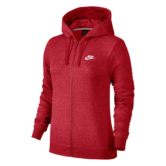60c04be422 Jaqueta Nike Hoodie Fz Flc Feminina - Vermelho - Compre Agora