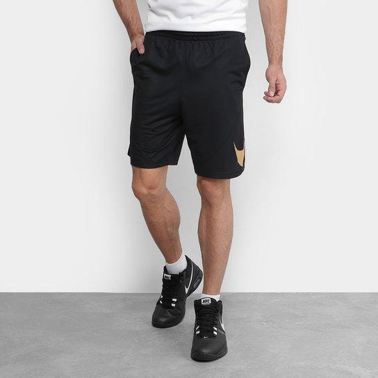 Bermuda Nike HBR Masculina - Preto e Dourado - Compre Agora  c64342bcc6a67
