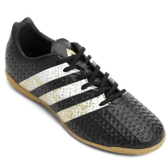 7fca03f009 Chuteira Futsal Juvenil Adidas Ace 16.4 IN - Preto e Branco