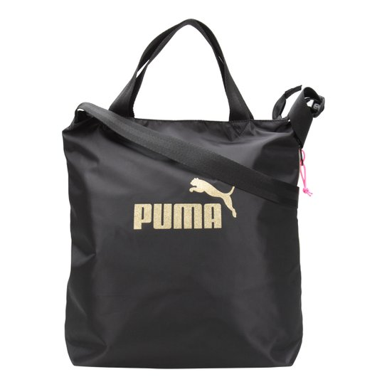 Bolsa Puma Shopper WMN Core Seasonal Feminina - Preto e Dourado ... e87493835b6