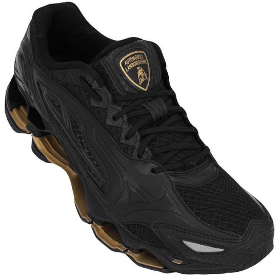 461d0832cc Tênis Mizuno Wave Prophecy Lamborghini Tenjin 3 Masculino - Preto+Dourado  ...