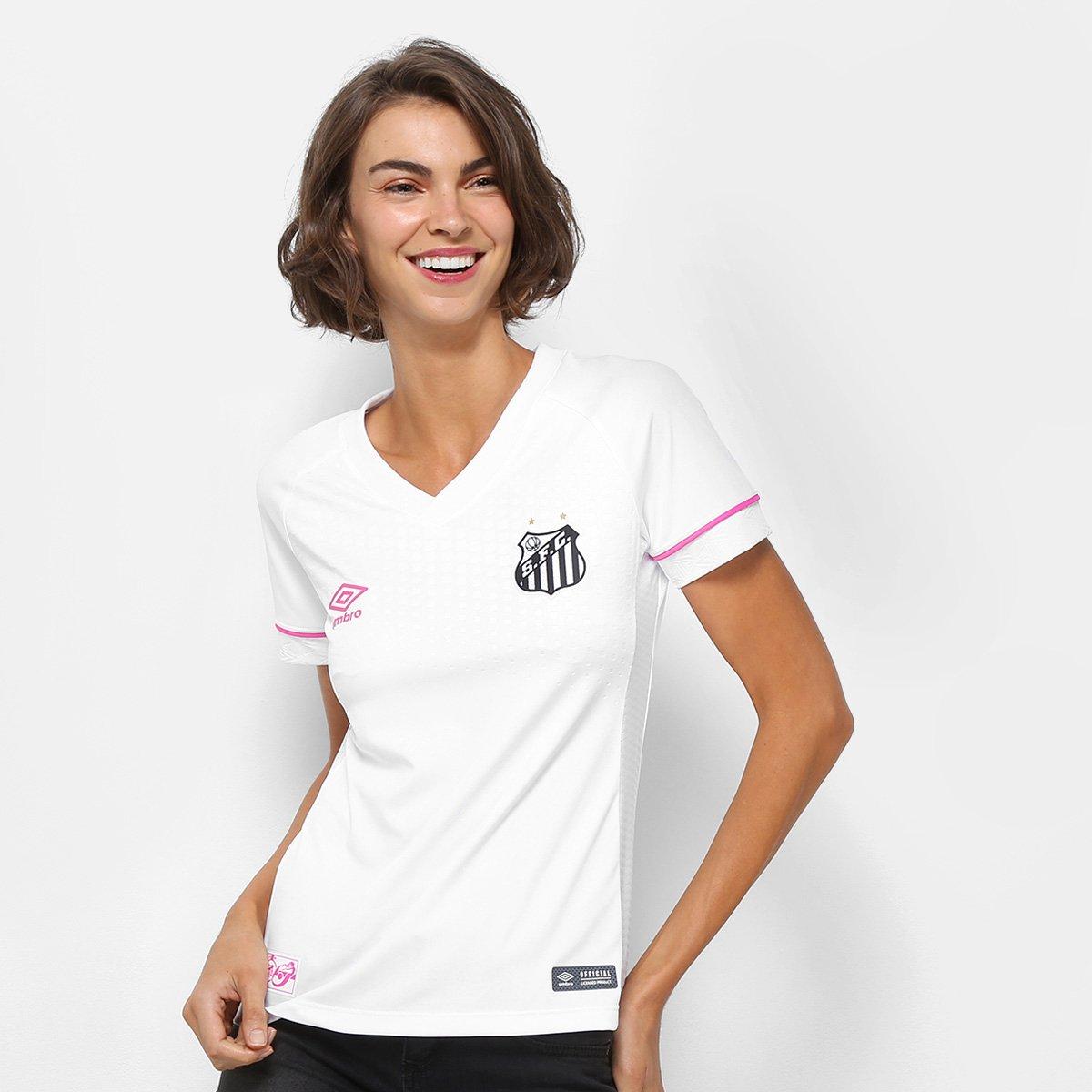 bd4e1b46da29a Camisa Santos I 2018 s n° Torcedor Umbro Feminina