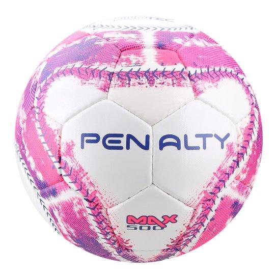 Bola de Futsal Penalty Max 500 C C IX - Branco e Rosa - Compre Agora ... 8989fc90baee1