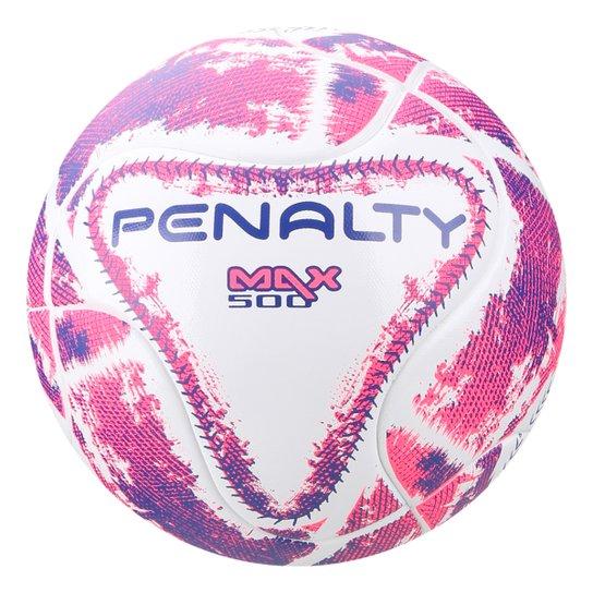cc77ff5698 Bola Futsal Penalty Max 500 Term LX - Branco e Rosa