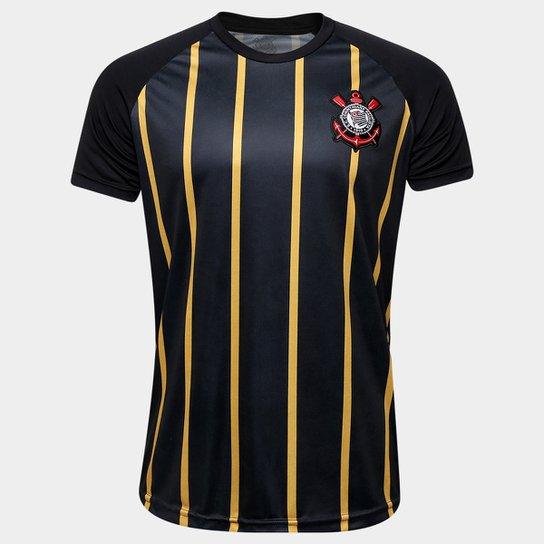 Camisa Corinthians Gold - Edição Limitada Masculina - Preto+Dourado a2c058980053a
