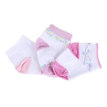 Meia Infantil Lupo Baby Coração Kit 3 Pares