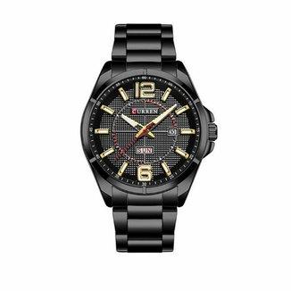 606b523d43 Relógio Masculino Curren Analógico 8271 Preto e Dourado