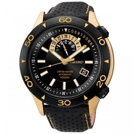 1434f45ffb4 Relógio Seiko Automatic 4R37AJ 2P SSA188K1 Edição Limitada - Preto+Dourado