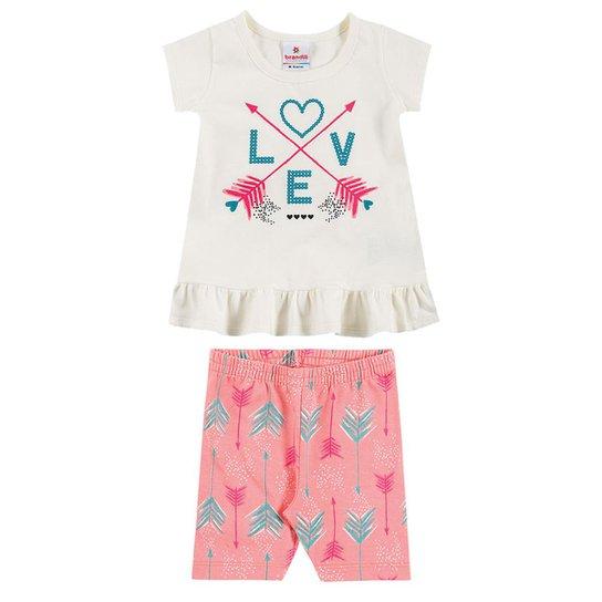 78d82c574 Conjunto Infantil Love Folk e Brandili Feminino - Compre Agora ...