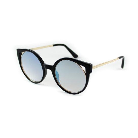 566d4d406977b Óculos Atitude - AT5374 T01 - Preto e Dourado - Compre Agora