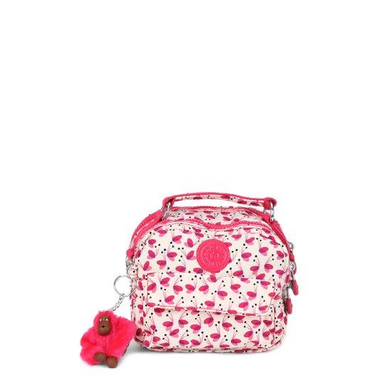 a07e02993 Bolsa Kipling Mini Bag Puck Feminina - Branco+Rosa