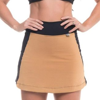 Short Saia em poliamida Short Saia Element Gold Sandy Fitness Feminino