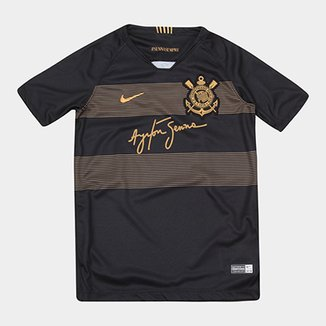 fa6a075172377 Camisa Corinthians Infantil III 2018 s n° - Torcedor Nike