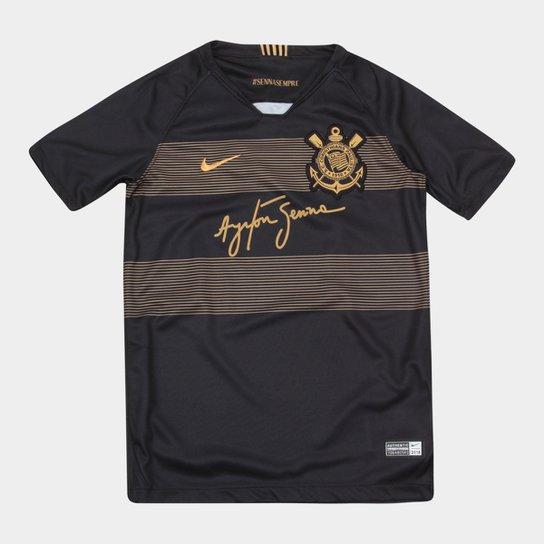 f47aacd0d4 Camisa Corinthians Infantil III 2018 s/n° - Torcedor Nike - Preto+Dourado