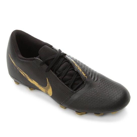 7a4b54125b586 Chuteira Campo Nike Phantom Venom Club FG - Preto e Dourado | Netshoes