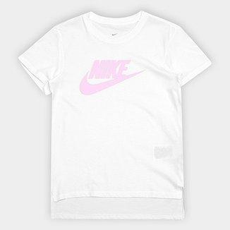 Camiseta Infantil Nike G Nsw Tee Dptl Basic Futura-Ar Feminina 501b7b31ac329
