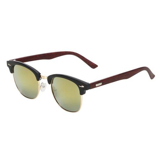 e09a3a4bcb207 Óculos de Sol King One A44 Feminino - Preto e Dourado - Compre Agora ...