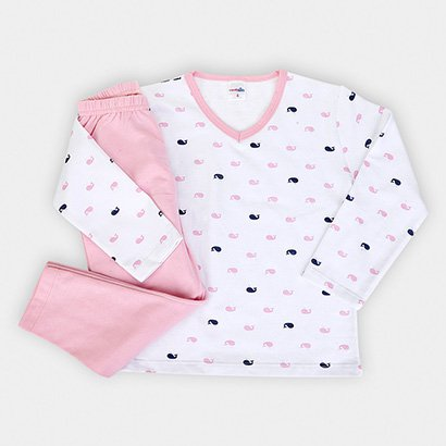 Conjunto Pijama Infantil Candy Kids Baleia Feminino