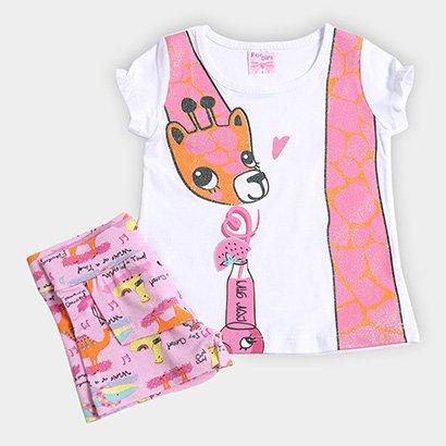 Conjunto Infantil For Girl Girafa Feminino