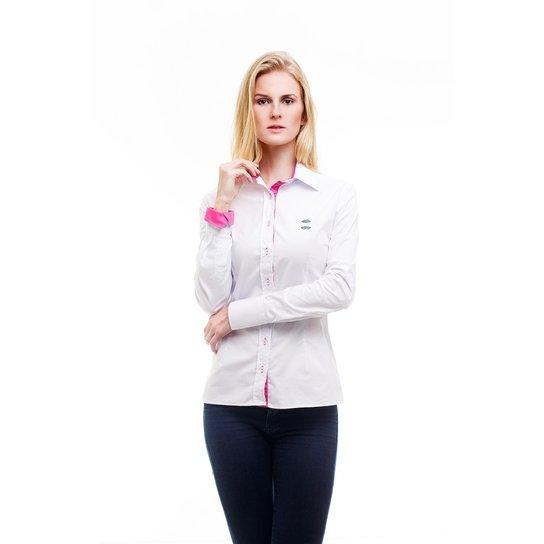 Camisa Social Hat Trick Coritiba - Branco e Rosa - Compre Agora ... 320edc18b0718