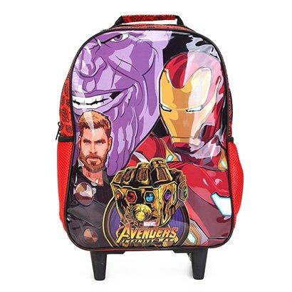 Mochila Escolar Infantil Xeryus Avengers Rodinhas