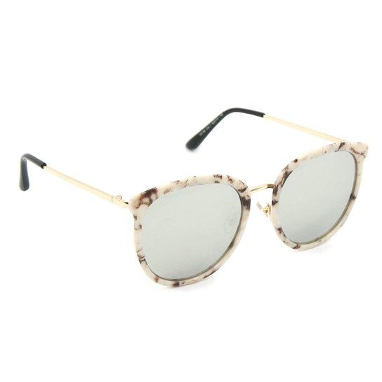 008d47daa81fc Óculos Bijoulux de Sol Marmorizado com Lente Espelhada - Compre ...