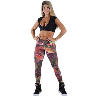 ec685e0ab3e62 Calça Legging Fitness Digital Realistic 3D Estampada