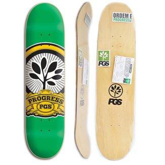 Shape de skate Progress - PGS Logo Verde 7.8 + Lixa Grátis 02d6de7eaf4c3