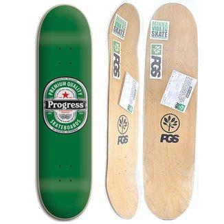 Shape de skate Progress - PGS Cerveja 8.0 + Lixa Grátis 9a31f26dedb