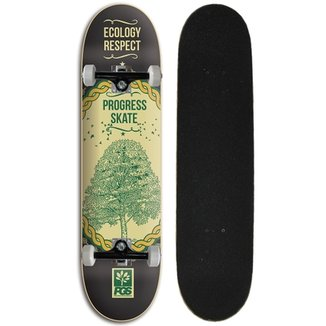 Skate montado Iniciante Progress - PGS Ecology Black