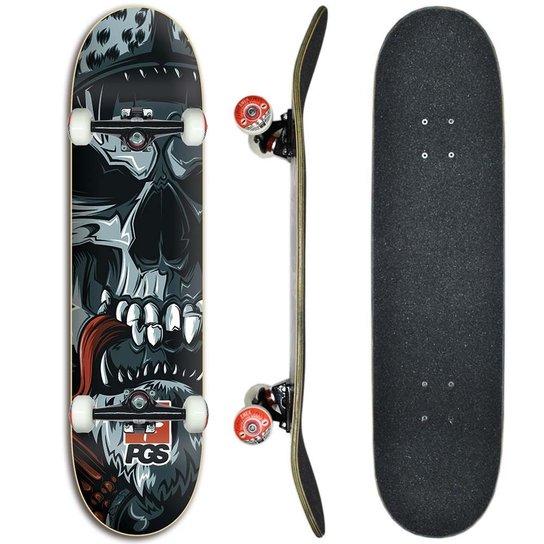 93f57231064f Skate montado Profissional Progress - PGS Caveira Indígena 8.0 - Estampado