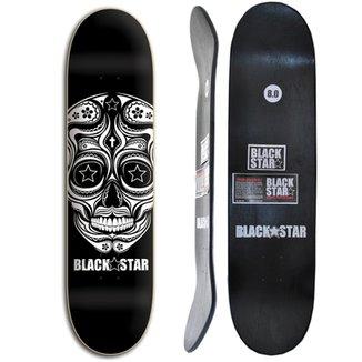 Shape de Skate Black Star Caveira Mexicana 8.0 2879944533eb8