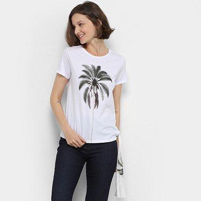Camiseta Lez Lez Estampada Lenço Feminina