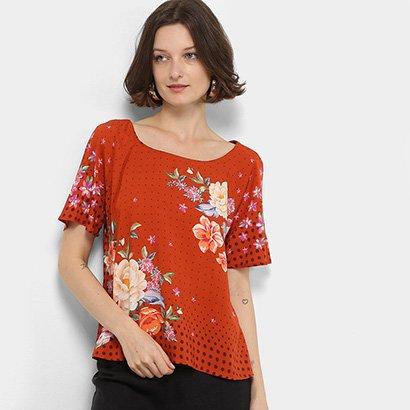 Blusa Farm T-Shirt Raglan Lenço Patricia Feminina
