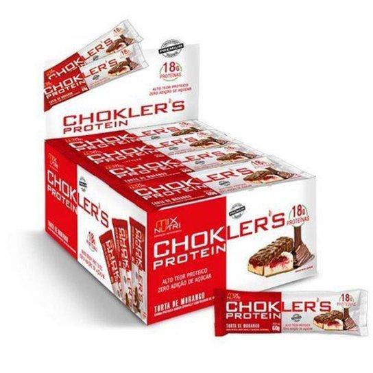 70832e04c Barra de Proteína Choklers Protein - 12 unidades 60g Torta de Morango - Mix  Nutri -