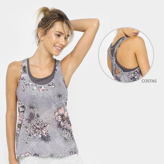 f22dd5099 Regata Colcci Fitness Estampada Malha Exclusiva Feminina - Cinza ...