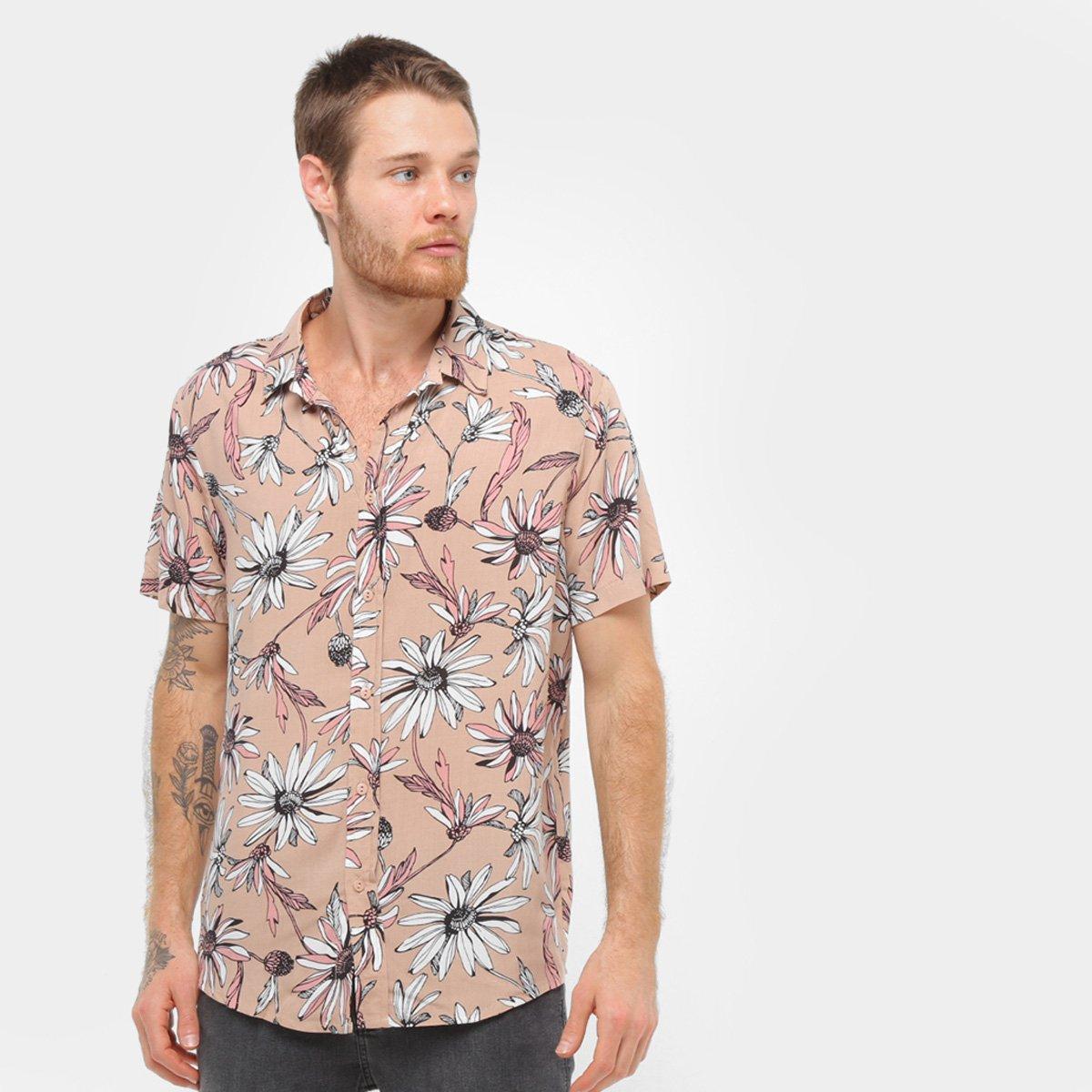 Camisa  Soul Básica Floral Masculina