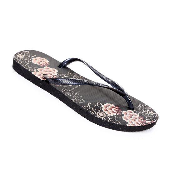 Sandália Havaianas Slim Organic Feminina - Preto - Compre Agora ... 0f7acd98e5e