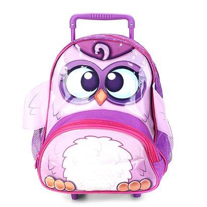 Mochila Infantil Escolar CLIO CORUJAS ROXAS -CP9024B
