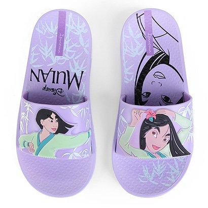 Chinelo Infantil Grendene Kids Ipanema Disney Mulan Slide