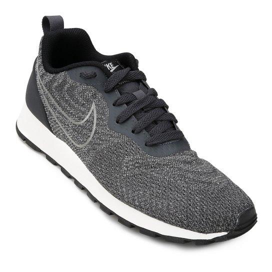 b01068528c Tênis Nike Md Runner 2 Eng Mesh Feminino - Chumbo e Preto - Compre ...