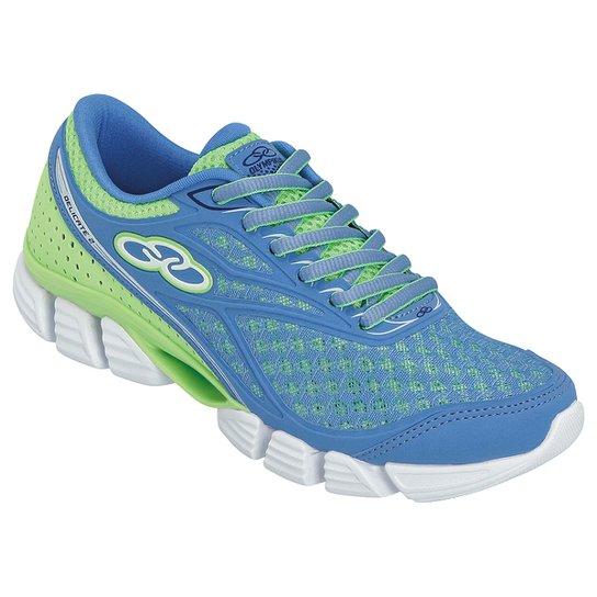 d99031bd86d Tênis Olympikus Delicate 2 Feminino - Azul Turquesa+Verde Limão