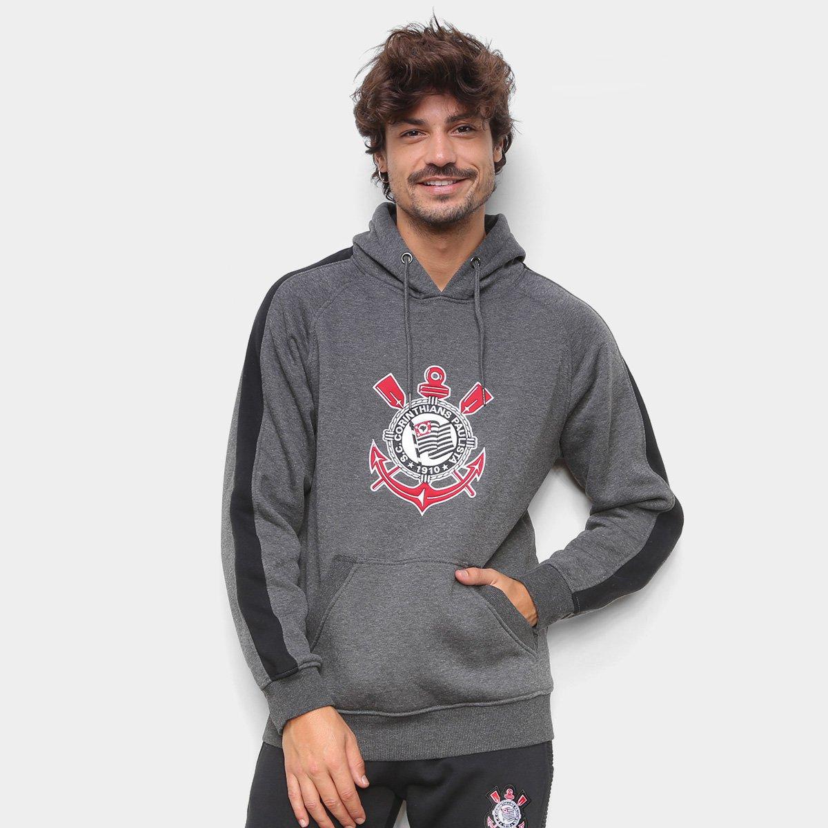 Moletom Corinthians Embroidery Canguru Masculino