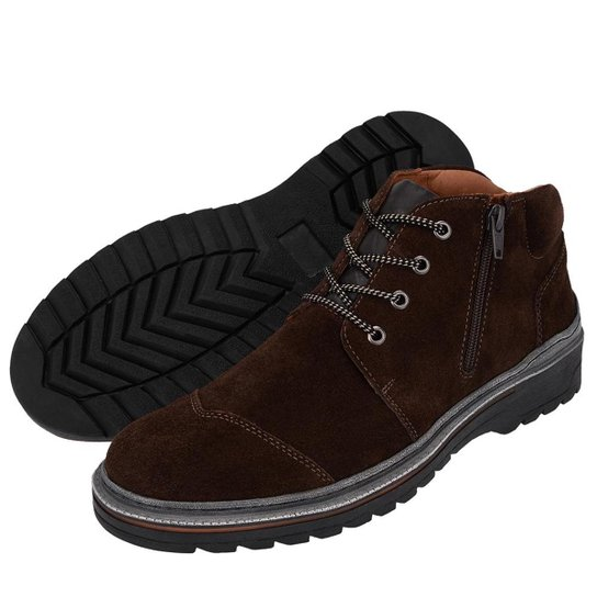 3333dccfab Bota Coturno F. Jump Masculino Em Couro Adventure - Cafe | Netshoes
