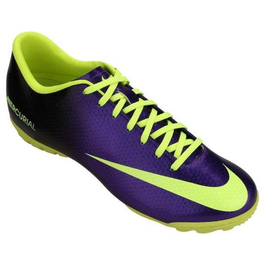 Chuteira Society Nike Mercurial Victory 4 TF Masculina - Compre ... 72cf9cd45619c