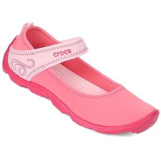 9a0a041424 Sapatilha Crocs Infantil Duet Busy Day Mary Jane GS