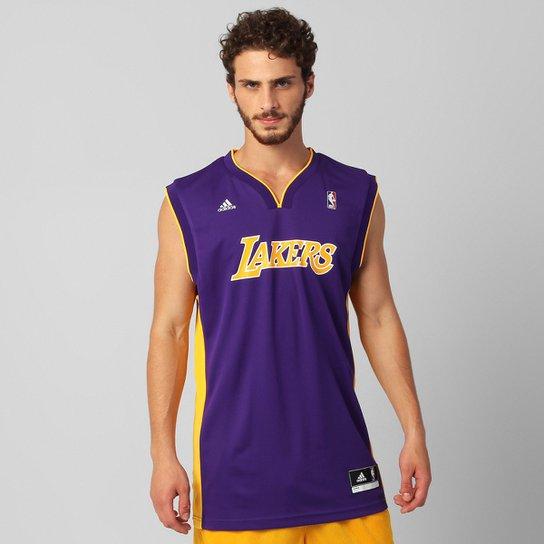 41ef793ac Camiseta Regata NBA Adidas Los Angeles Lakers Road - Compre Agora ...