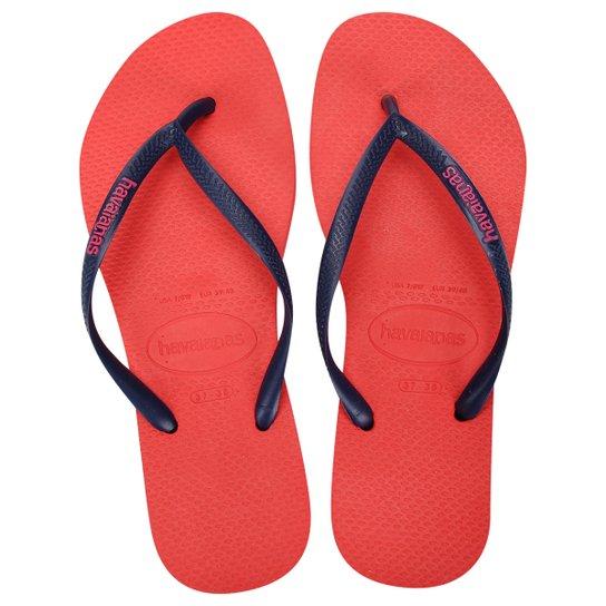 4978ad73c Sandália Havaianas Slim Logo Pop-Up Feminina - Coral - Compre Agora ...